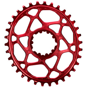 absoluteBLACK Corona dentata ovale per SRAM XX1 Spiderless, red